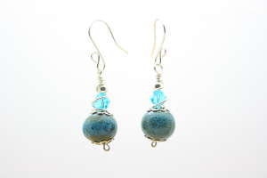 Crystal and Stone Fashion Earrings
